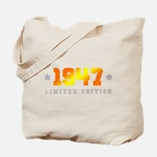 Limited Edition 1947 Birthday Tote Bag