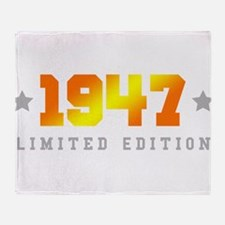 Limited Edition 1947 Birthday Throw Blanket