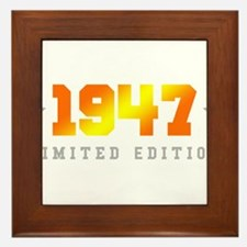 Limited Edition 1947 Birthday Framed Tile