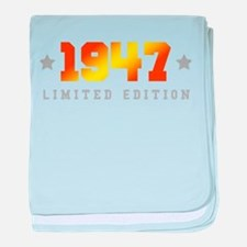 Limited Edition 1947 Birthday baby blanket