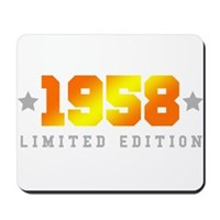 Limited Edition 1958 Birthday Mousepad
