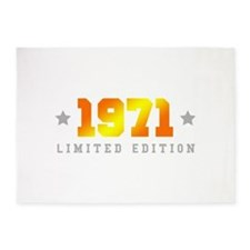 Limited Edition 1971 Birthday 5'x7'Area Rug