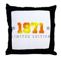 Limited Edition 1971 Birthday Throw Pillow