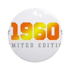 Limited Edition 1960 Birthday Round Ornament