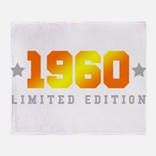 Limited Edition 1960 Birthday Throw Blanket