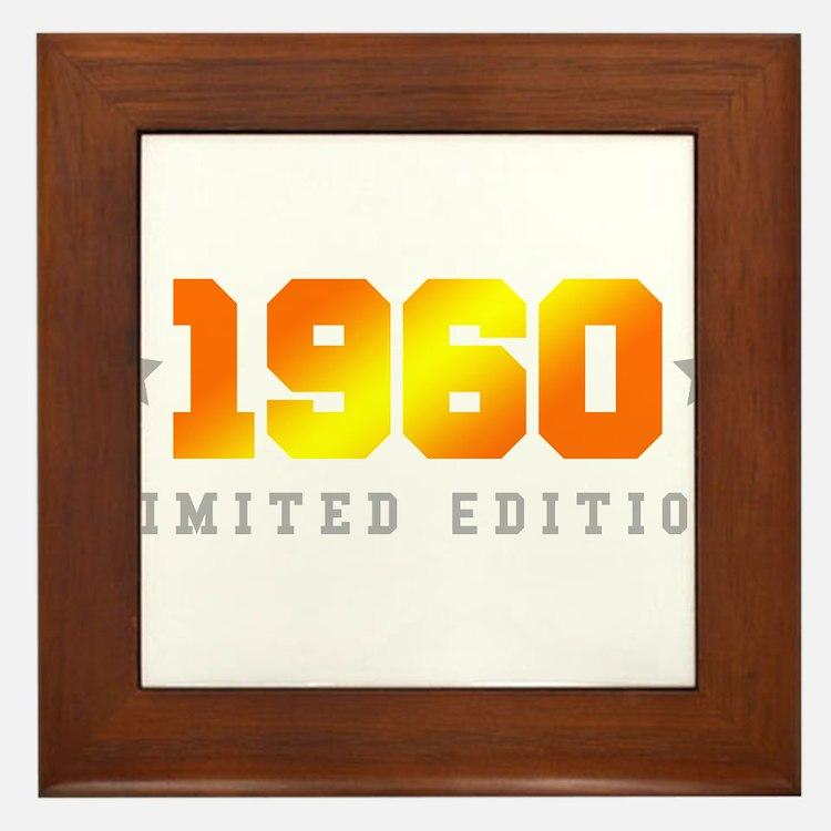 Limited Edition 1960 Birthday Framed Tile