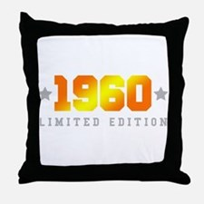 Limited Edition 1960 Birthday Throw Pillow