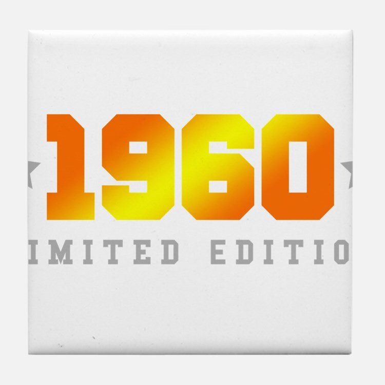 Limited Edition 1960 Birthday Tile Coaster