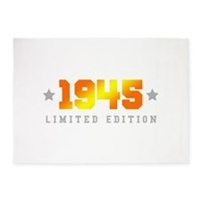 Limited Edition 1945 Birthday 5'x7'Area Rug