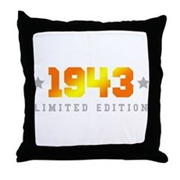 Limited Edition 1943 Birthday Throw Pillow