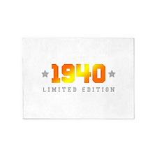Limited Edition 1940 Birthday 5'x7'Area Rug