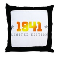 Limited Edition 1941 Birthday Throw Pillow