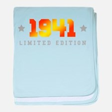 Limited Edition 1941 Birthday baby blanket