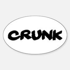Crunk Oval Decal