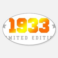 Limited Edition 1933 Birthday Decal