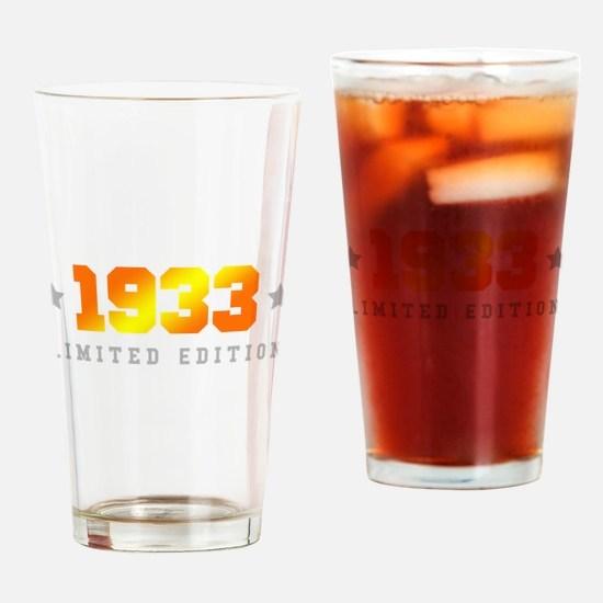 Limited Edition 1933 Birthday Drinking Glass