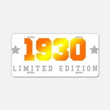 Limited Edition 1930 Birthday Aluminum License Pla