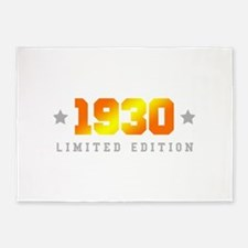 Limited Edition 1930 Birthday 5'x7'Area Rug