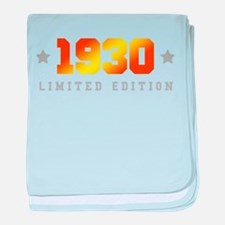 Limited Edition 1930 Birthday baby blanket