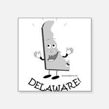 "Cool Delaware Square Sticker 3"" x 3"""