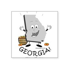 "Unique Georgia atlanta Square Sticker 3"" x 3"""