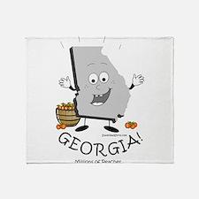 Cute Atlanta georgia Throw Blanket