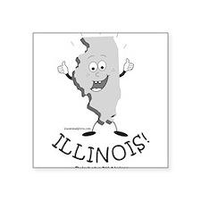 """Cute Illinois state Square Sticker 3"""" x 3"""""""
