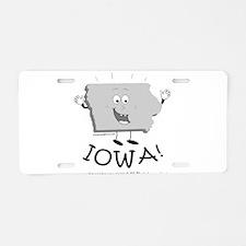 Unique Iowa Aluminum License Plate