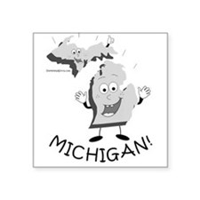 "Funny Upper peninsula of michigan Square Sticker 3"" x 3"""