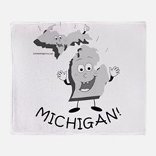 Funny Upper michigan Throw Blanket