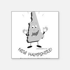 """Cute New hampshire Square Sticker 3"""" x 3"""""""