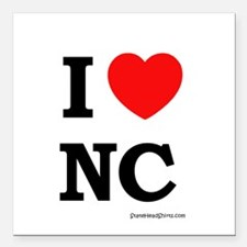 "Cute North carolina state flag Square Car Magnet 3"" x 3"""