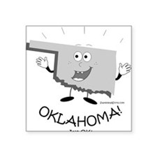 "Funny Sooners Square Sticker 3"" x 3"""