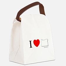 Cute Oregon love Canvas Lunch Bag