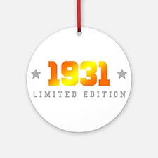 Limited Edition 1931 Birthday Round Ornament
