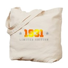 Limited Edition 1931 Birthday Tote Bag