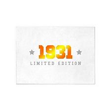 Limited Edition 1931 Birthday 5'x7'Area Rug