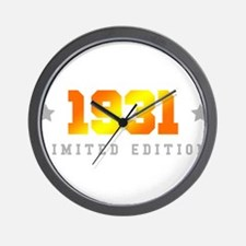 Limited Edition 1931 Birthday Wall Clock