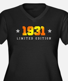 Limited Edition 1931 Birthday Plus Size T-Shirt