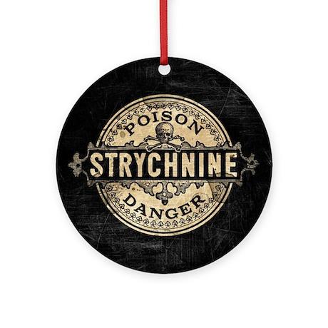 Halloween Poison Label Strychnine Round Ornament by ...