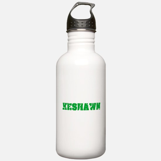Keshawn Name Weathered Sports Water Bottle