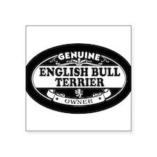 "Cute English bull dog Square Sticker 3"" x 3"""