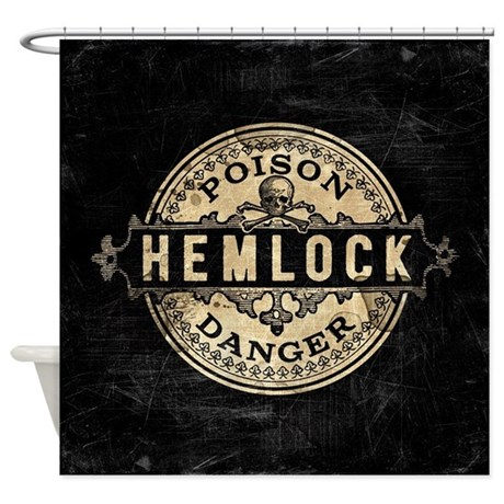 Vintage Style Hemlock Poison Shower Curtain By Poisoncupcake