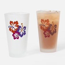 Hibiscus Bunch Drinking Glass