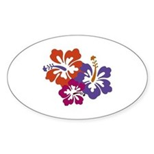 Hibiscus Bunch Bumper Stickers
