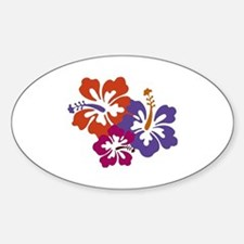 Hibiscus Bunch Bumper Stickers