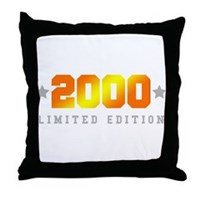 Limited Edition 2000 Birthday Shirt Throw Pillow