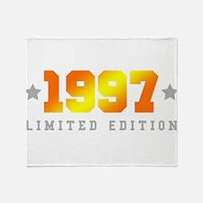 Limited Edition 1997 Birthday Shirt Throw Blanket