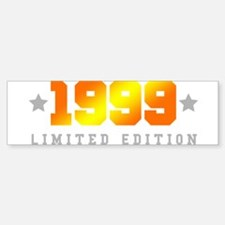 Limited Edition 1999 Birthday Shirt Bumper Bumper Bumper Sticker