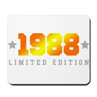 Limited Edition 1988 Birthday Shirt Mousepad